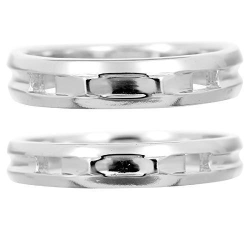 [ココカル]cococaru ペアリング 2本セット K18 ホワイトゴールド 結婚指輪 日本製 (レディースサイズ19号 メンズサイズ20号)