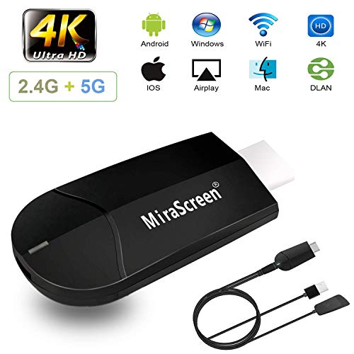 Review Of WiFi Display Dongle, 2.4G+5G Mobilephone Computer 4K HD Wireless Projector, TV HDMI Displa...