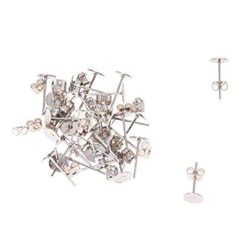 TOOGOO(R) 15 pares pendientes de bases X cameo hierro