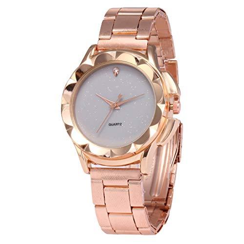 UINGKID Damen Armbanduhr Analog Quarz Quarz Uhr High-End Blue Glass Life Wasserdicht Ausgezeichnet
