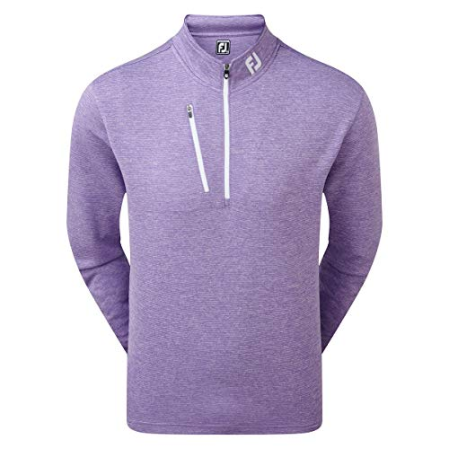 Footjoy Heather Pinstripe Chill-Out Pull pour Homme S Violet