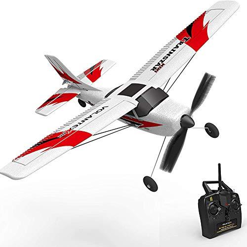 WQSFD Cessna 182-3-Kanal RC ferngesteuertes Flugzeug mit 2.4GHz, Auto Gyro Stabilization, Trainer Flugzeug Parkflyer, Komplett-Set for Beginners Adults Gift Toy