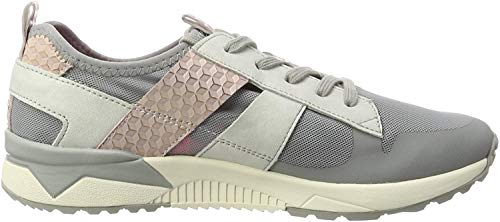 Tamaris Damen 23701 Sneaker, Grau (Stone/Rose 216), 41 EU