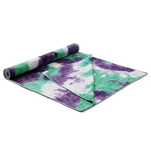 LULUVicky Esterilla de yoga con impresión de secado rápido, antideslizante, plegable, toalla de yoga, manta con bolsa de malla, aplicable para yoga, ejercicio, fitness (tamaño: 183 x 63 cm, color: 9)