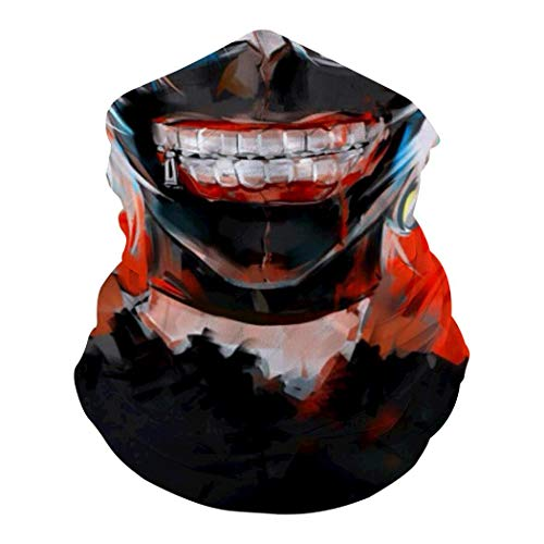 DTT&GTT Kaneki Ken Face 3D Print Breathable Anti-UV Windproof Face Mask for Motorcycle Cycling Hiking Ski White