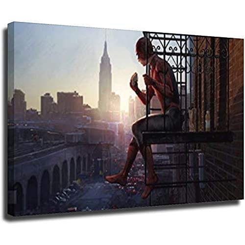 Póster e impresiones de la película de Spider-Man Superhero Marvel para pintar cuadros de pared de sala de estar, 20 x 30 cm