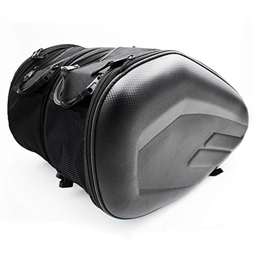 Motorcycle One Set Waterproof Motorcycle Saddlebags Helmet Moto Side Bag Tail Luggage Suitcase Motor Bike Fuel Tank Bags saddle bags Waterproof (Color Name : Black)