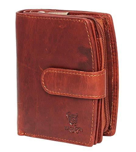 MATADOR Damen Geldbörse aus Echt Leder – mit RFID Schutz – 10 x 9 x 4 cm – Portemonnaie in...
