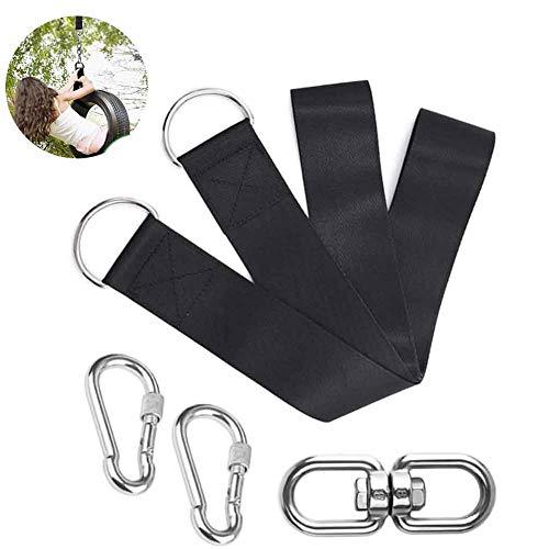 Columpio de cuerda para hamaca, mosquetón, para actividades al aire libre, montaje en árbol