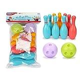 Toys - Set da Bowling per Bambini - Include 2 Palla E 10 Birilli Tema - Giocattoli di Sport - Gioco per Bambini 2 3 4 Anni