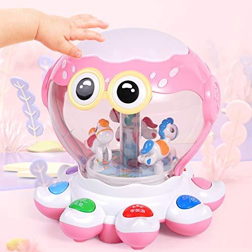 GAOQUN-Baby Toy Jouets for bébé 6-18 Mois Up Early Education Musique Activity Centre Jeu de Musique Jouets Tambour Enfants en Bas âge for 1 2 3 Ans éclairage différent du Son