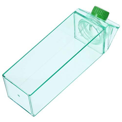 Cabilock Milchflasche Milchkarton 500ml Wasserflasche Auslaufsicherer Nachfüll Kunststoff Saftflaschenbehälter Limonade Saft Getränk Eistee Flasche für Camping Wandern Outdoor Sport
