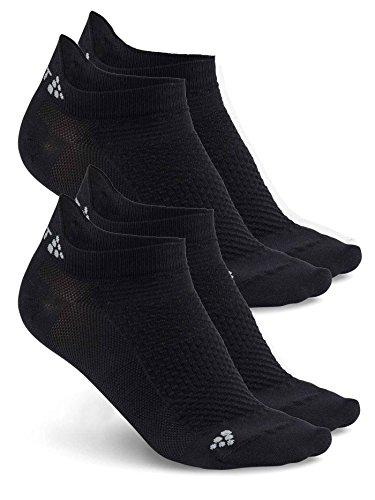 Craft Chaussettes Running Invisibles Pack De 2 Unterhose, Schwarz, 43-45 (L)