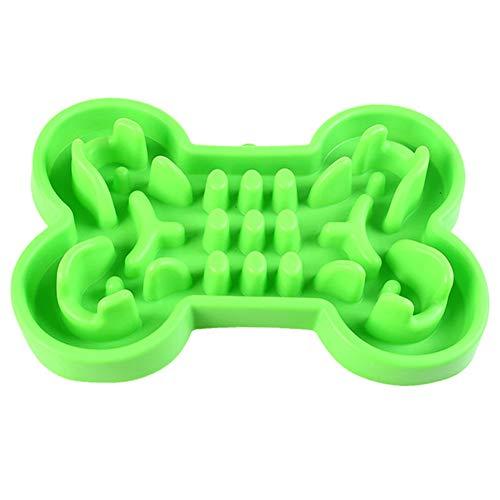 Dan & Dre - Ciotola per cani a forma di osso in silicone per animali domestici