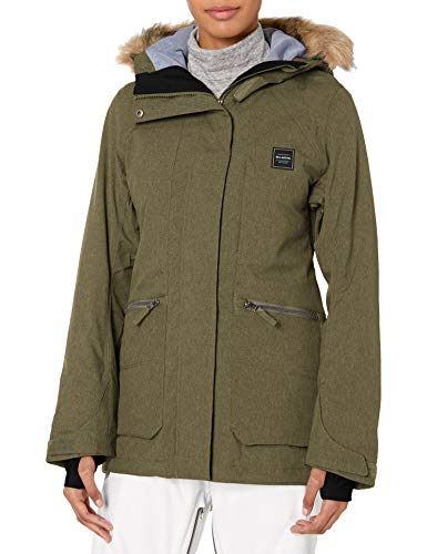 BILLABONG Damen Into The Forest Snowboard Jacket Isolierte Jacke, olivgrün, Klein