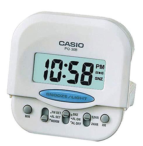 Reloj Despertador digital blanco CASIO PQ-30B-7DF