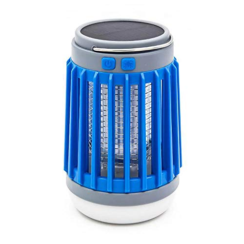 Generic Brands Solar Mosquito Killer Lamp Camping Lamp Lighting Lamp Physical Mosquito Repellent Lamp Built-in Battery Outdoor Waterproof USB Rechargeable Lighting Mosquito Trap Easy to Carry