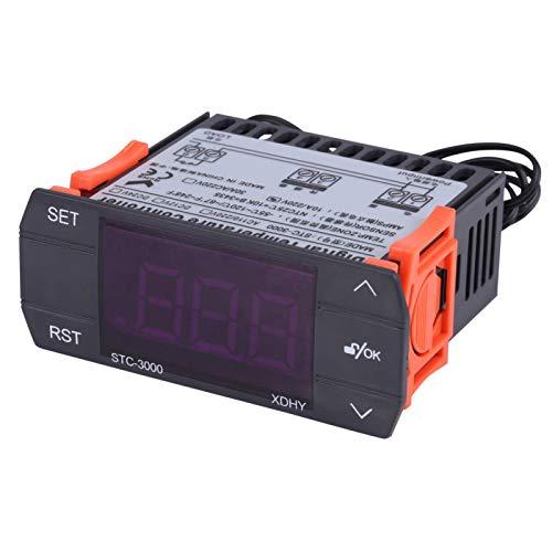 Controlador de temperatura Aramox STC-3000, termostato electrónico digital táctil con sensor -55 ℃ 〜120 ℃(110-220V 10A)