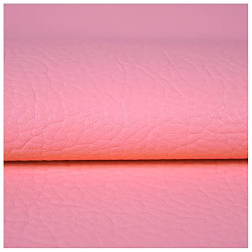 NXFGJ Tela De Polipiel, 1.2 Mm De Grosor, PU Material Tapicería Tela De Polipiel por Metros Ideal para Bolsos, Zapatos, Reparaciones, Decoraciones, Manualidades(Size:1X1.4m,Color:3 Light Powder)