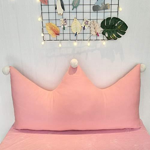 JJKB Baumwolle Waschbar Dreieckiger Keil Kissen, Double Rosa Lesen Kopfkissen Einstellbare Flip Kissen Für Bett Kinderzimmer-k 90x70cm(35x28inch)