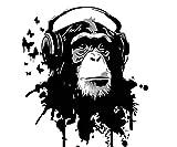 JHGJHK Pintura al óleo Animal del Arte de la Acuarela Pintura al óleo del Mono Animal, Pintura de la decoración del hogar (Imagen 8)