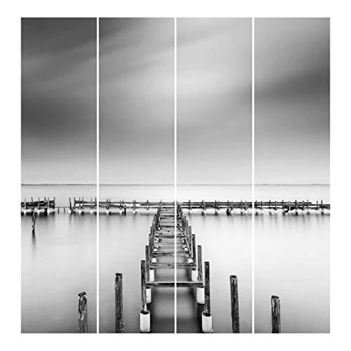 Bilderwelten Cortinas de Panel japonés con impresión The Old Pier Sin Montaje, 250 x 240cm