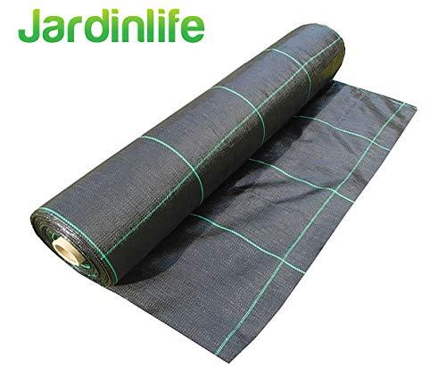 JARDINLIFE Malla Geotextil Antihierbas 100gr Control Maleza (Rollo 1X5 = 5m²)