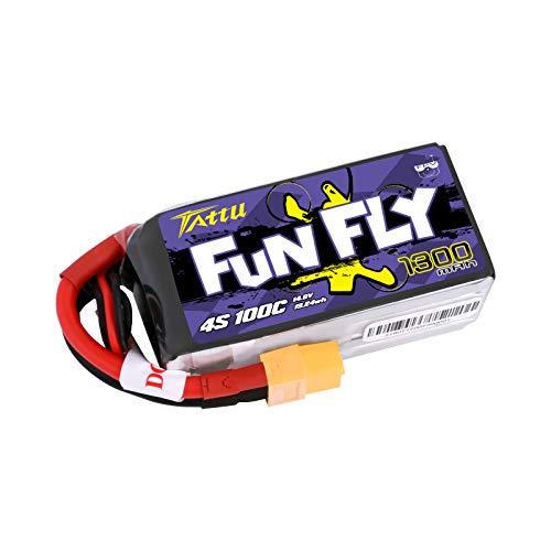 Tattu - Batería de polímero de Litio (14,8 V, 1300 mAh, 100 C)