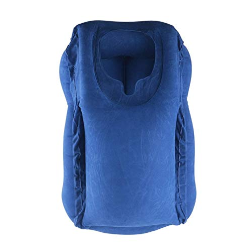 Almohada de viaje Almohadas inflables Aire Suave Cojín Viaje Productos Innovadores Portátil Cuerpo Apoyo Espalda Plegable Cuello