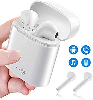 Bluetooth Headphones, Wireless in-Ear Bluetooth Earbuds with Charge Case & Mic Hands-Free Headset Sweat-Proof Sport Earphones Compatible with All Bluetooth-Enabled Devices