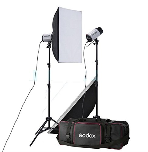 Gowe 2x 250W Studio Flash Beleuchtung Kit 500W Strobe Flash Light Portrait Fashion Werbung Objektfotografie Set