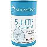 Nutradian 5-HTP 120 vegane Kapseln x 200mg Griffonia Extrakt und Vitamin B6 ohne Zusätze | 4 Monate Vorrat -