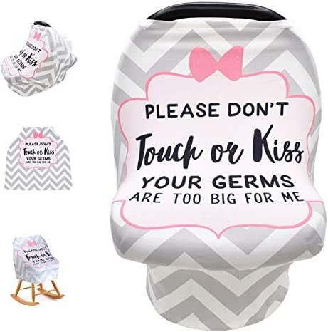 Baby Nursing Cover Baby Car Seat Canopy No Touch Sign Infant Stroller Cover Breastfeeding Cover product image