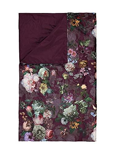 ESSENZA Quilt Fleur Blumen Pfingstrosen Tulpen Polyester Burg&y, 180x265 cm