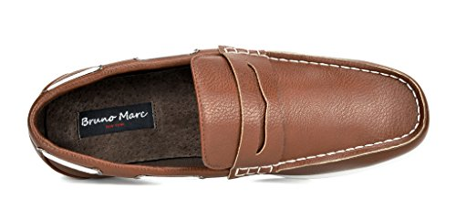 Bruno MARC MODA ITALY KILIN-02 New Men's Casual Slip On Driving Loafers Boat Shoes TAN SIZE 10.5