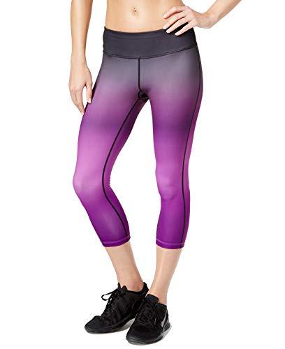 Ideology Women's Cropped Ombré Training Leggings (S, Push It Purple)