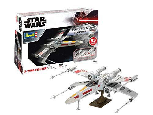 Revell- X-Wing Fighter (Easy-Click) Star Wars Kit di Modelli in plastica, Multicolore, 06890