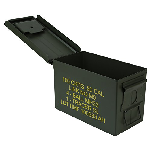 HMF 70011 Munitionskoffer, US Ammo Box, Metallkiste, 30 x 19 x 15,5 cm, grün - 2