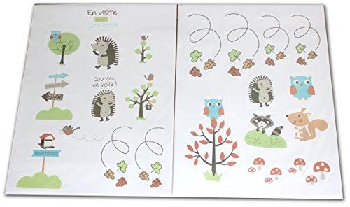 Les Chatounets Stickers Motif Hérisson Multi