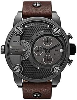 Diesel Little Daddy Watch for Men - Casual Watch Brown Leather - DZ7258