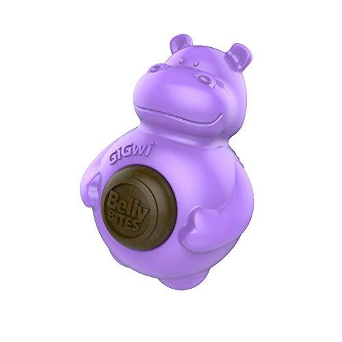 GiGwi Blauer Belly-Bites-Bär mit austauschbaren Hundesnacks, Hundespielzeug