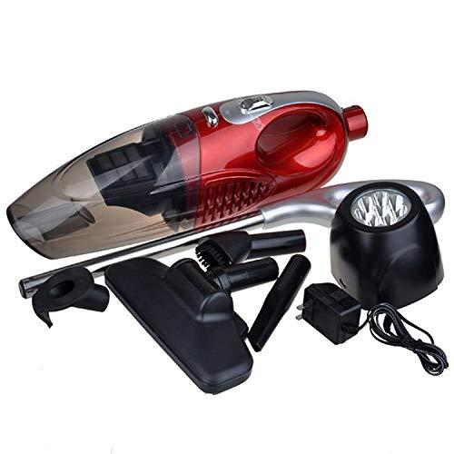Handstofzuiger, draadloos, multifunctioneel, LED, mute-/ stofzuiger voor nat- en droogzuiger, rood