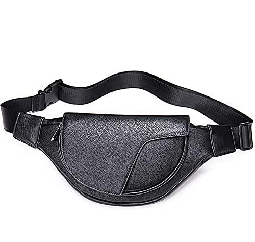 Moda Bolsa Riñoneras Running Bolso Cintura Unisexo Paquete de cintura de cuero genuino Fanny Pack para mujeres mujeres, moda Hip Bag Bag Bolsa de pecho Correa ajustable Sling Bag Purse Bolsa de teléfo