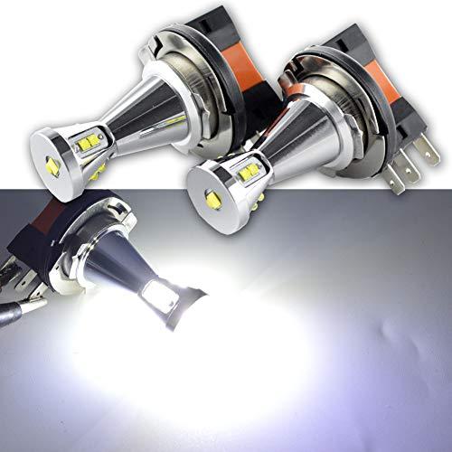 Ruiandsion H15 Brouillard LED Ampoule DC 12-24 45W CREE 9SMD 6000K LED blanche Ampoule de rechange pour la voiture Phares antibrouillard Feux de jour Lumière (pack de 2)