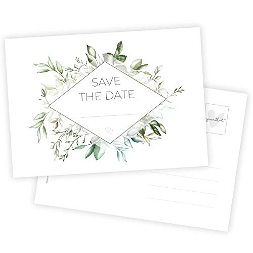 15 Postkarten Save the Date I DIN A6 I Set Hochzeit Wedding Einladungs-Karten Countdown I dv_723