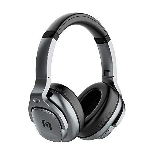 Mobvoi M700 Auriculares híbridos Activos con cancelación de Ruido, Auriculares inalámbricos Bluetooth con micrófono, Tiempo de reproducción 30H, Auriculares Suaves para Viajar, hogar