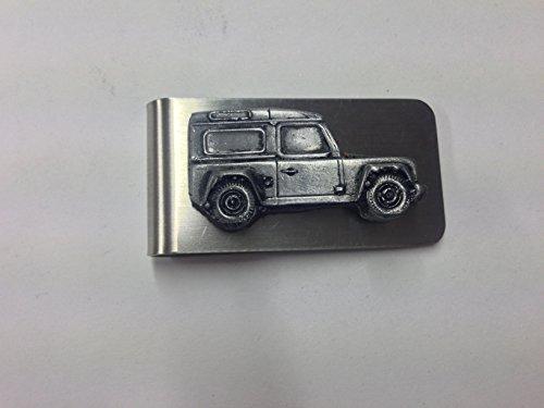 Preisvergleich Produktbild Geldscheinklammer,  Motiv: Land Rover Defender ref115,  3D-Optik,  Zinn-Effekt