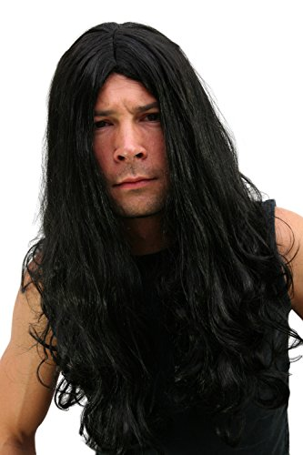 WIG ME UP Peluca: Black Metal, Melena Headbanger, greñas roquero.