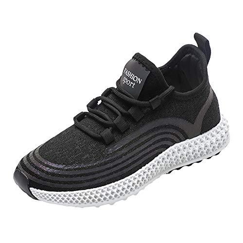 ARbuliry Chaussures de Course pour Femmes, Baskets durables en Maille, Chaussures de Sport Plates Respirantes antidérapantes, Chaussures de Course à Lacets