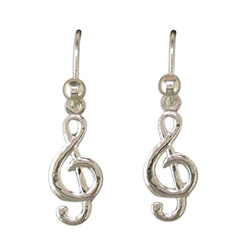 Touch Jewellery - Orecchini pendenti a chiave di violino in argento sterling silver